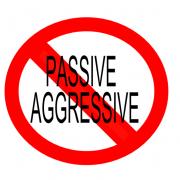 """""""not"""" symbol for passive aggressive"""
