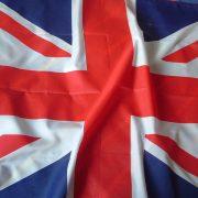 Union Jack flag wrinkled